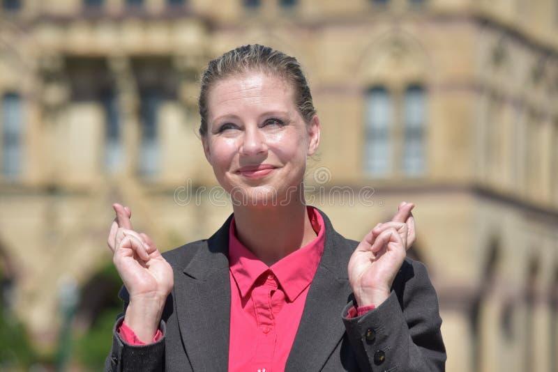 Szczęsliwa Biznesowa kobieta zdjęcia stock