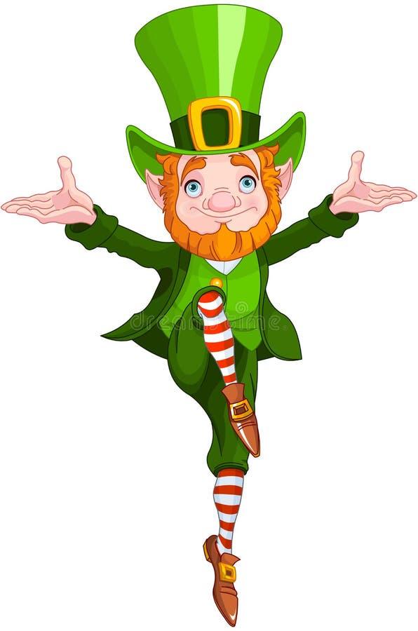 szczęsliwy dancingowy leprechaun ilustracja wektor