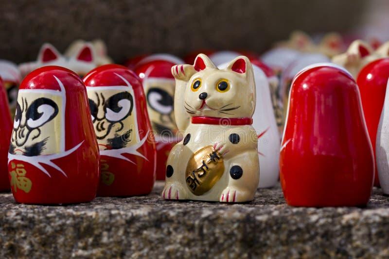 szczęsliwy kota japończyk obraz stock