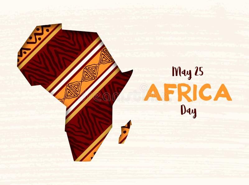 Szcz??liwa Afryka dnia karta afrykanina papieru r?ni?ta mapa ilustracja wektor