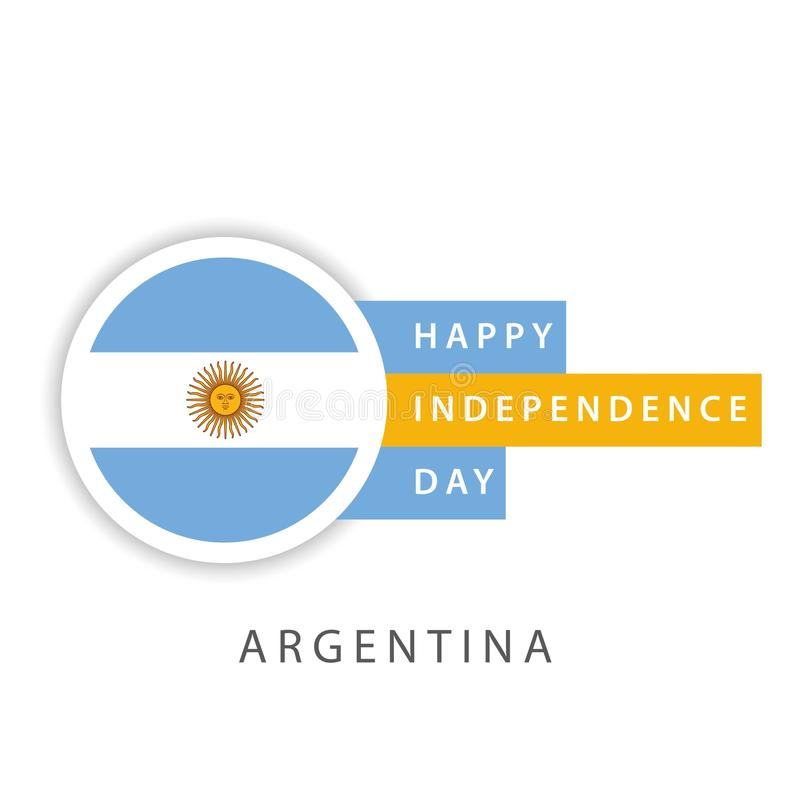 Szcz??liwego Argentyna dnia niepodleg?o?ci szablonu projekta Wektorowy ilustrator royalty ilustracja