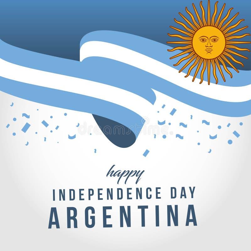 Szcz??liwego Argentyna Niezale?nego dnia szablonu projekta Wektorowa ilustracja ilustracji