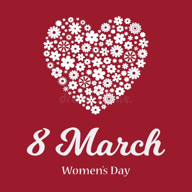 Szcz??liwy kobiety ` s dnia kartka z pozdrowieniami ilustracji