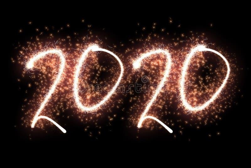 Szcz??liwy nowy rok 2020 fotografia royalty free