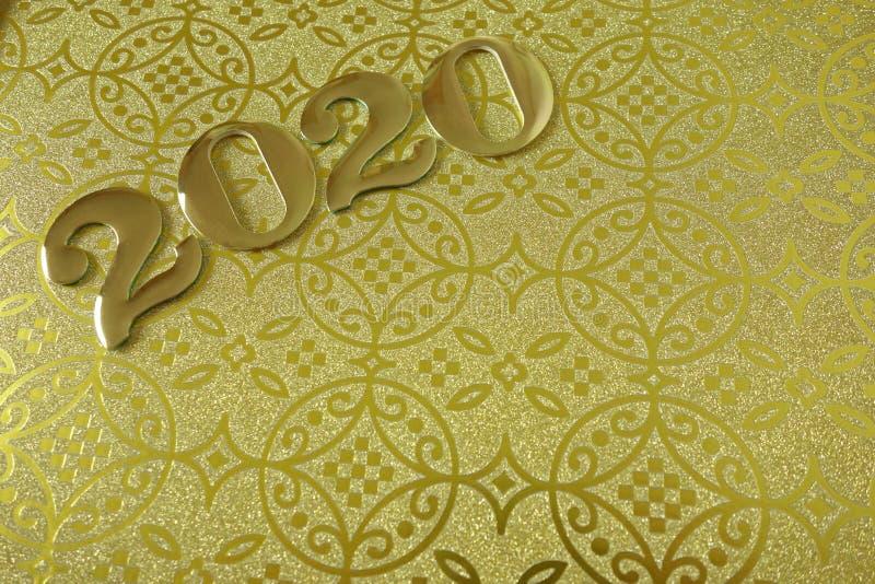 Szcz??liwy nowy rok 2020 zdjęcie royalty free