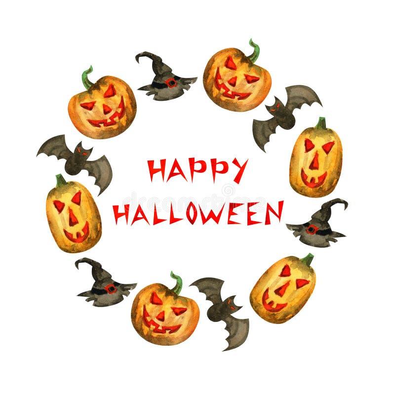 szcz??liwy ramowy Halloween ilustracji
