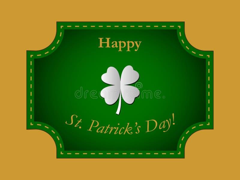 Szcz??liwy St Patrick ` s dnia wektor obrazy royalty free