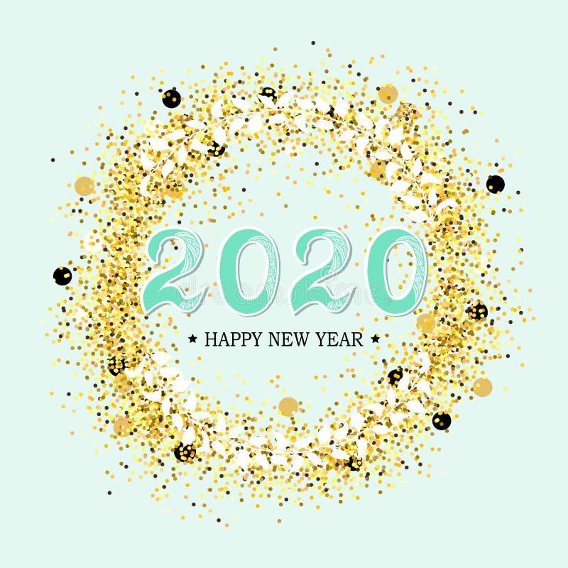 2020 Szcz??liwych nowy rok ilustracji