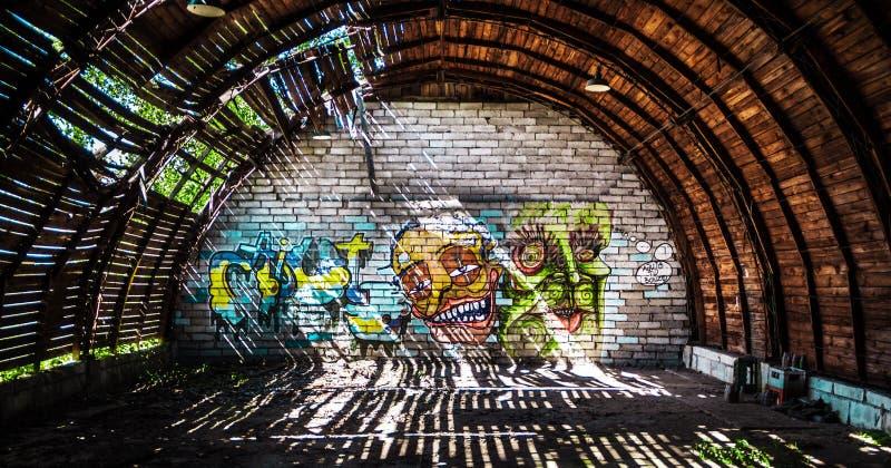 Szczecin Grafiiti стоковые изображения