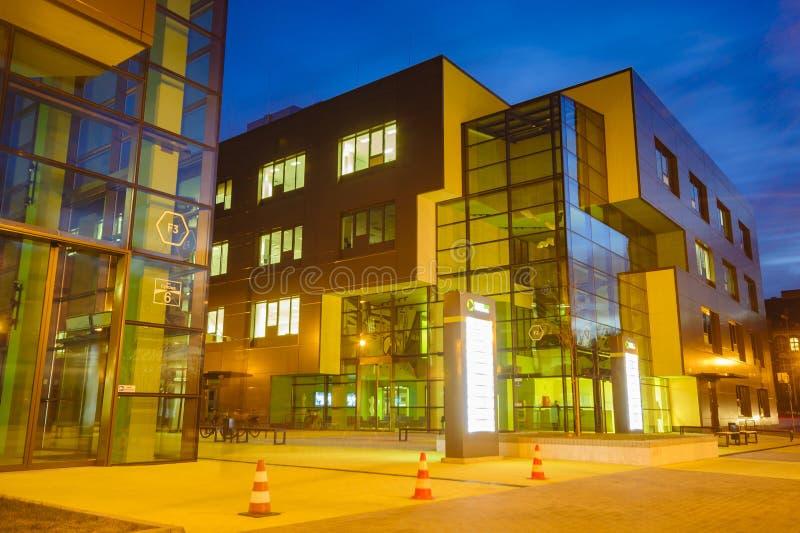 SZCZECIN, POLAND-CIRCA NOVEMBER 2015:a complex of office buildings royalty free stock image