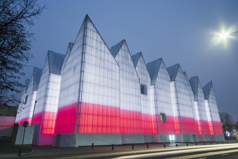 SZCZECIN, POLAND - february, 2017: modern building of the Miecz royalty free stock photos