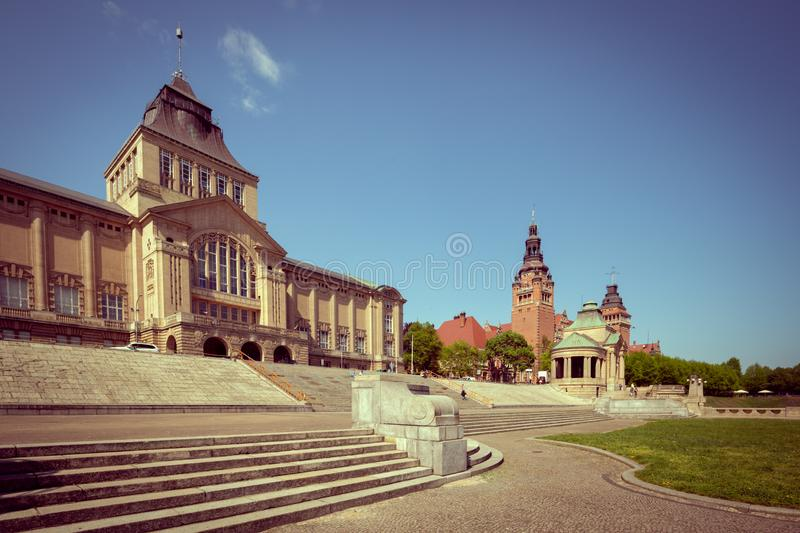 Szczecin, view of the historical part of the city. Szczecin in Poland  view of the historical part of the city royalty free stock photo