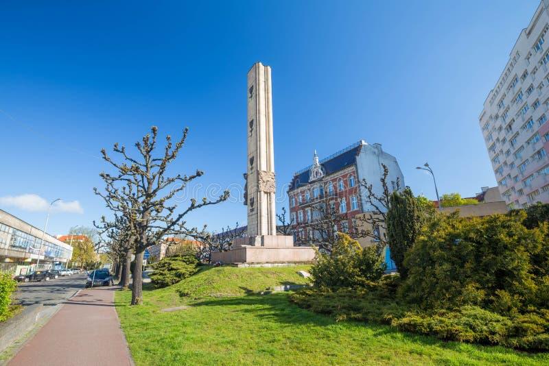Szczecin/soldats polonais placent/monuments communistes photographie stock