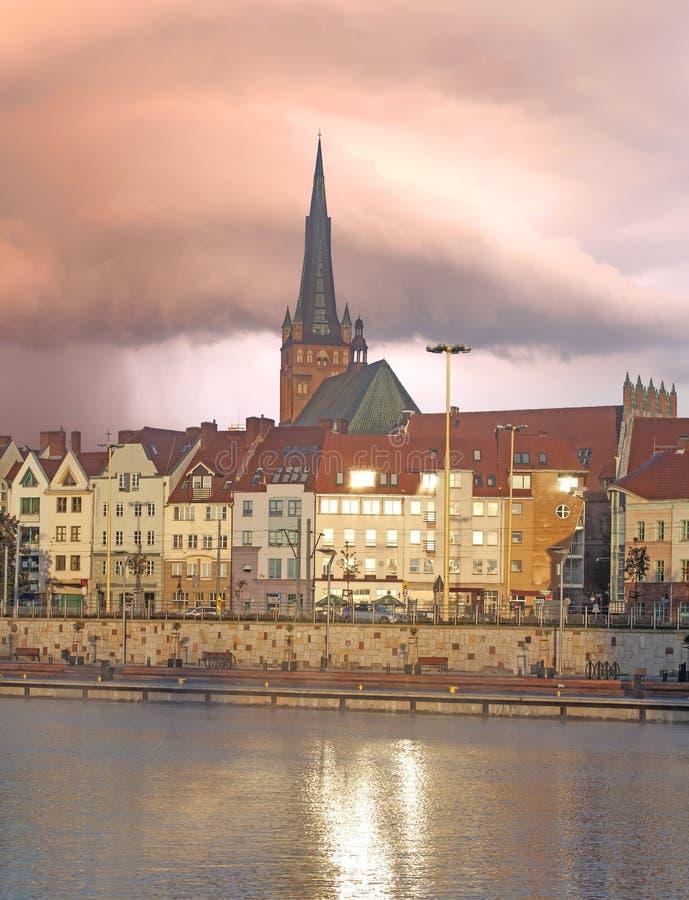 Szczecin (Stettin) Stad. stock foto