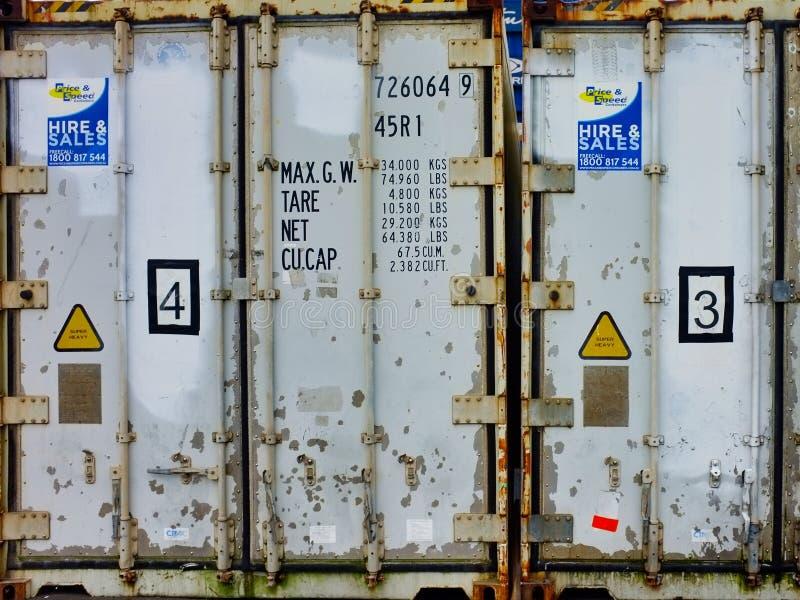 Szczegół Starej wysyłki Składowi zbiorniki obrazy stock
