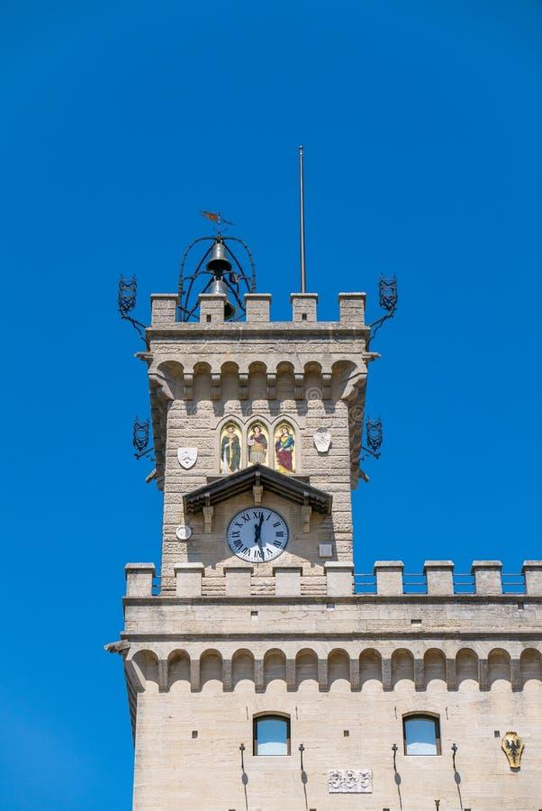 Szczegół wierza Palazzo Del Governo, i jest miejscem dokąd oficjalne ceremonie mają miejsce zdjęcie royalty free