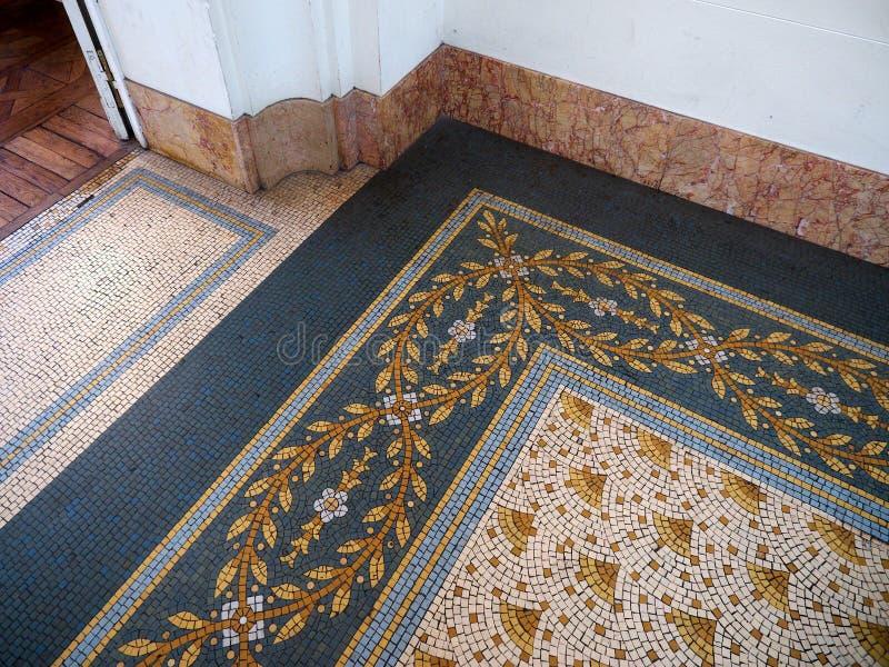 Szczegóły ręcznie robiony dachówkowa podłoga przy Evita sztuk pięknych muzeum fotografia royalty free