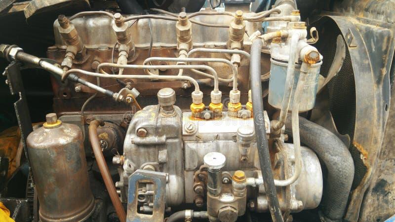 szczegółów silnika diesla silnika s ciągnik Silnik Diesla Silnik stary model rolniczy ciągnik zdjęcia royalty free
