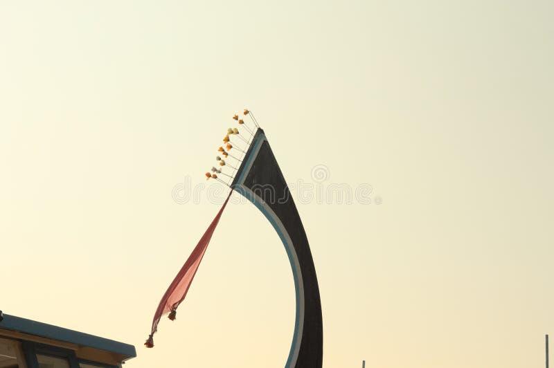 Szczegół «dhoni «maldivian łódź zdjęcia stock