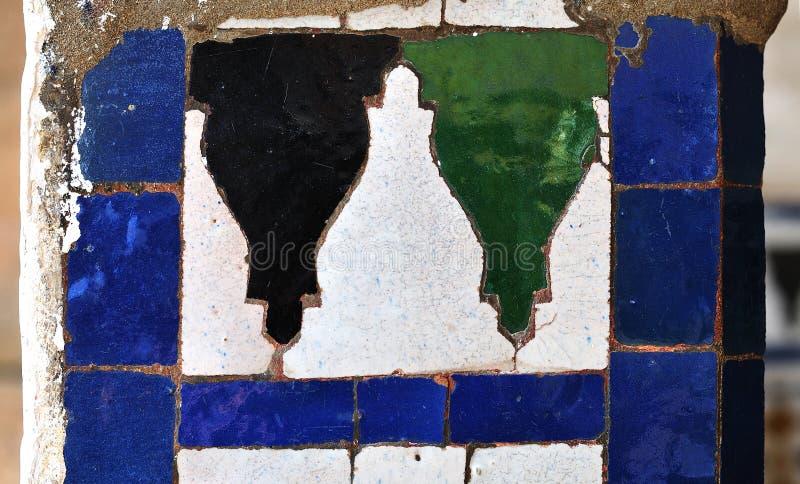 Szczegół ściana z tradycyjnymi marokańskimi płytkami fotografia royalty free