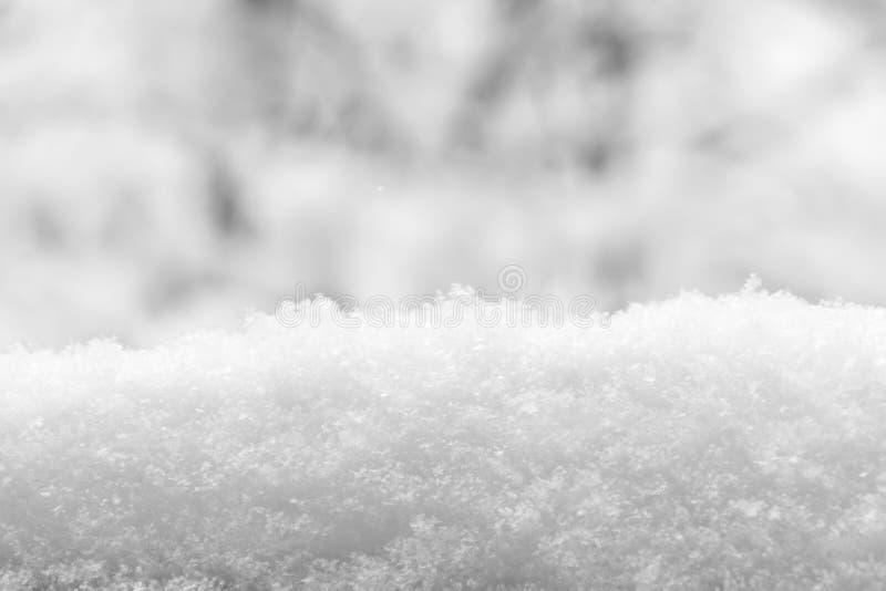 Szczegół śniegu stos śnieżna tekstura czarny white fotografia royalty free