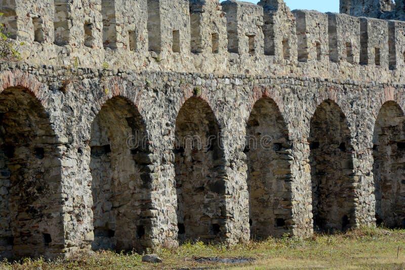 Szczegół antyczny Bashtova forteca obrazy royalty free