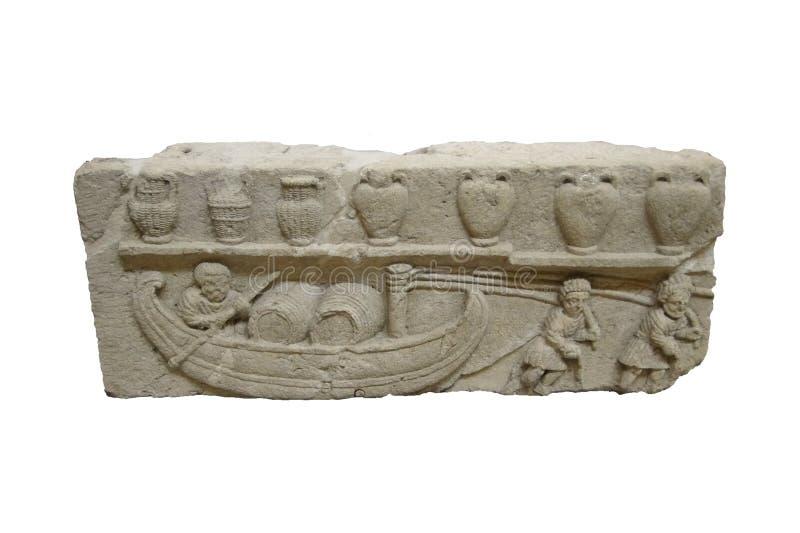 Szczegół, antyczny Romański sarkofag fotografia royalty free