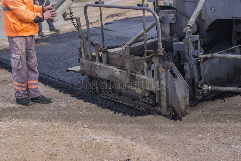 Szczegół asfaltowa brukarz maszyna 2 obraz stock