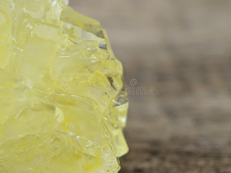 Szczegół brąz skały cukier na makro- strzale zdjęcia royalty free