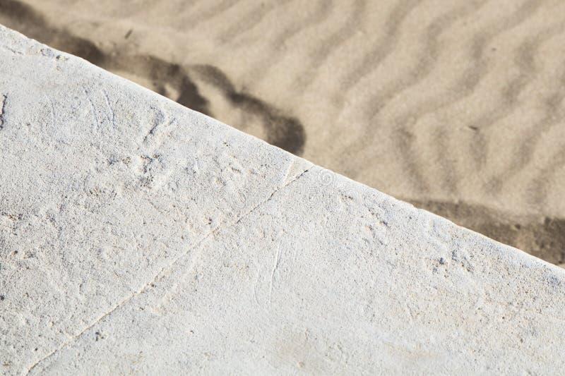 Szczegół brukowy kamień z piaskiem obrazy royalty free