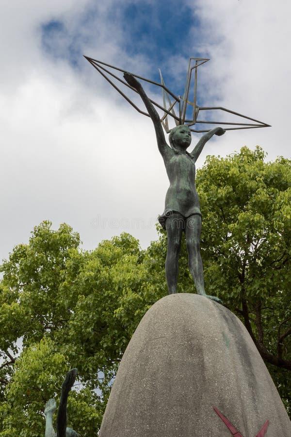Szczegół Children pokoju Pamiątkowa statua w Hiroszima zdjęcie royalty free
