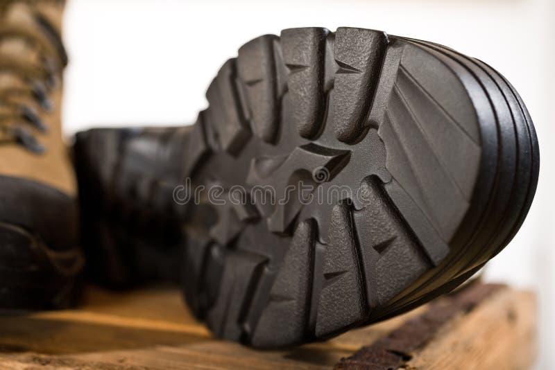 Szczegół chodzący buty zdjęcie royalty free