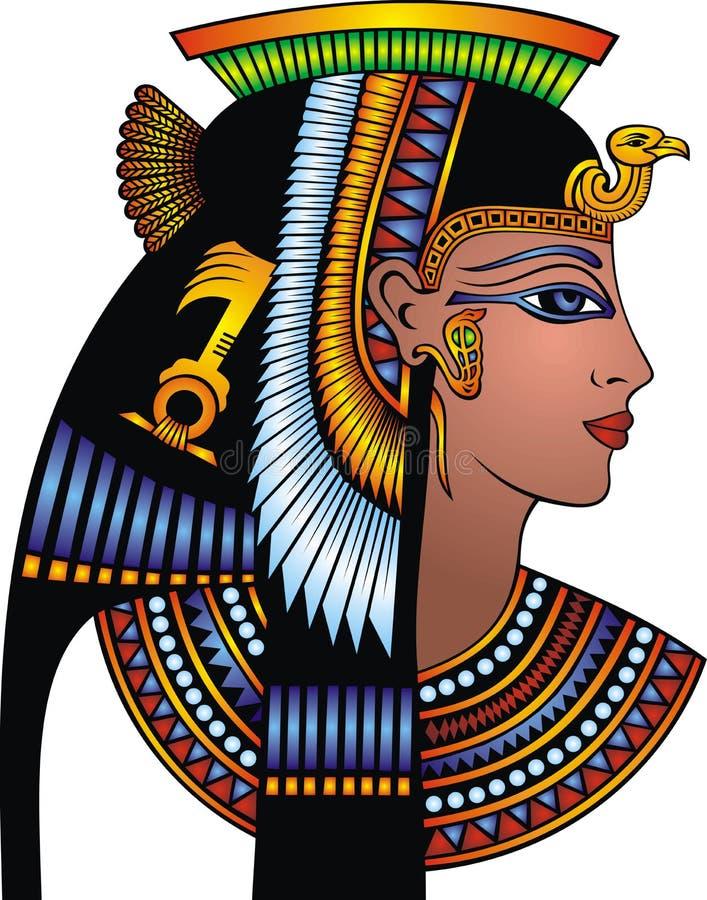 Szczegół Cleopatra głowa ilustracji