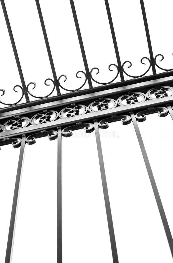 Szczegół dekoracyjny dokonanego żelaza ogrodzenie obrazy stock