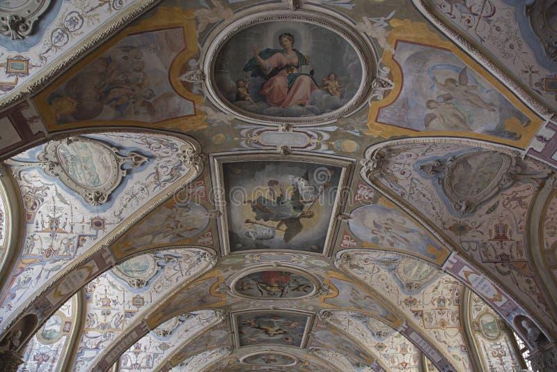 Szczegół dekorujący sufit obrazy royalty free