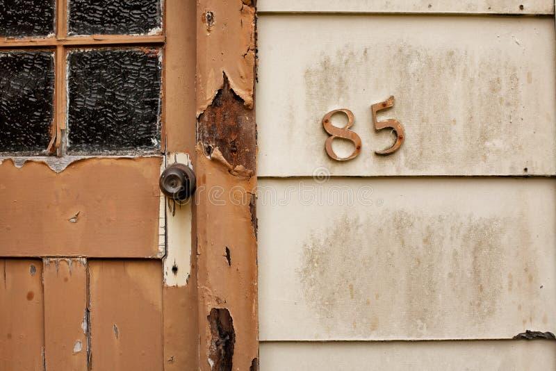 Szczegół domowa liczba fotografia stock