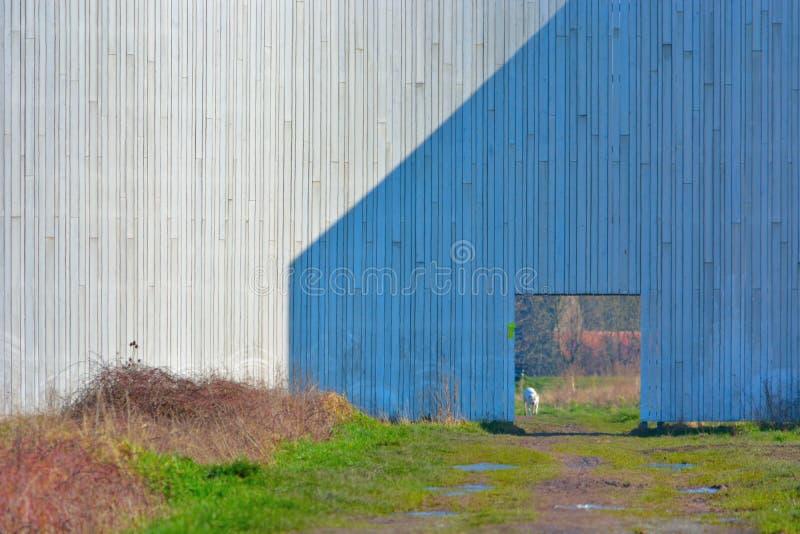 Szczegół drewniana budowa pokoju zabytek w południowej części Zielony basen Ghent Ber fotografia stock