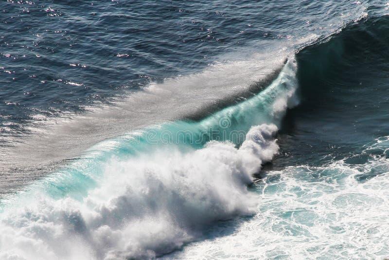 Szczegół Duży Kolorowy ocean Bali, Indonezja zdjęcia stock