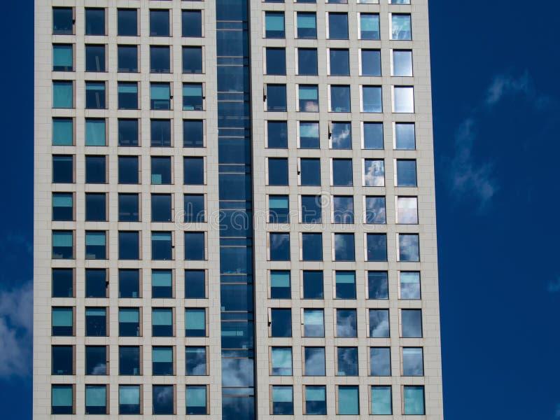 Szczegół fasada biznesowy budynek w Frankfurt, niemiec fotografia stock