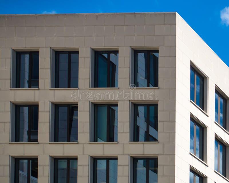 Szczegół fasada biznesowy budynek w Frankfurt, niemiec obraz royalty free