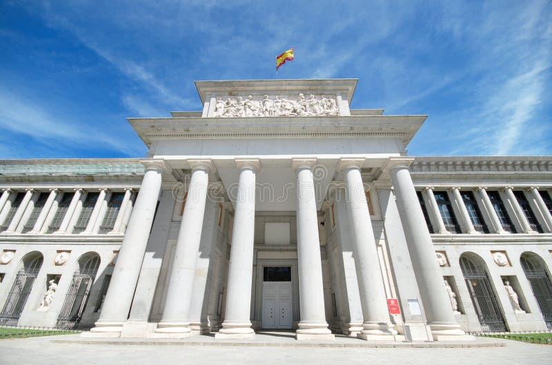Szczegół fasada sławny el Prado muzeum w Madryt, Hiszpania zdjęcie royalty free