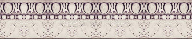 Szczegół formierstwo kamienia starzy Włoscy okapy z kwiatami i owocowymi roślinami - bezszwowa tekstura obrazy royalty free