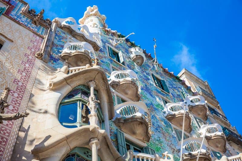 Szczegół Gaudi projektował Casa Batllo w Barcelona Hiszpania zdjęcie stock