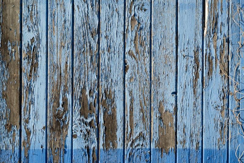 Szczegół gnijąca błękitna farba na drewnie zdjęcie royalty free