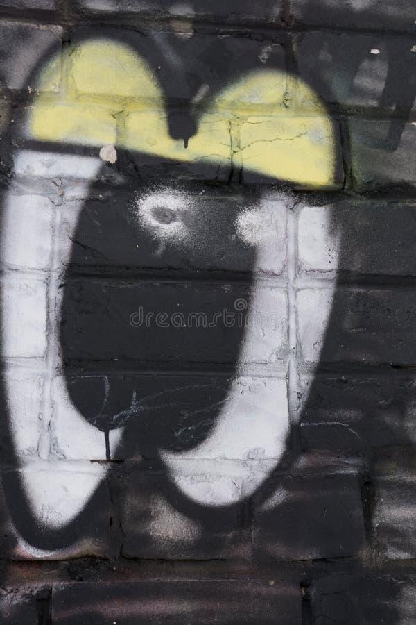 Szczegół graffiti ściana Ciekawi wzory wyłania się Może być pożytecznie dla tło fotografia stock