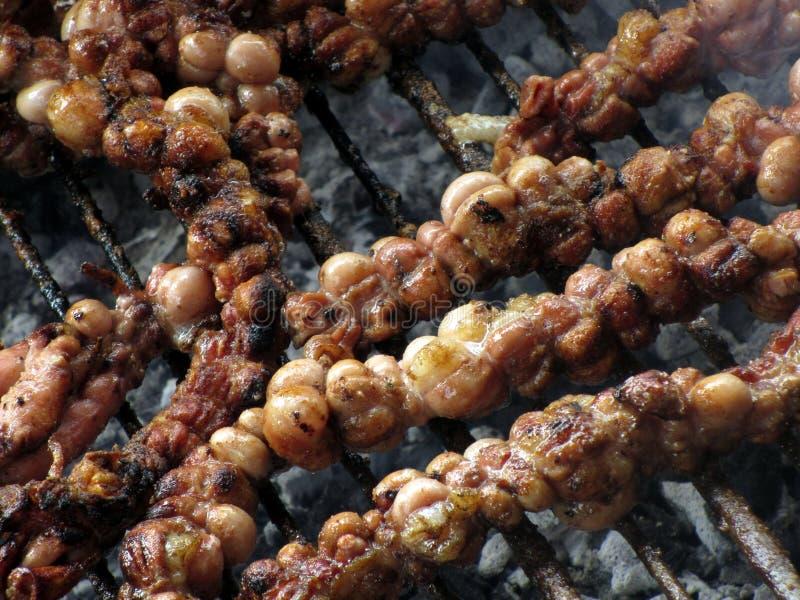 Piec na grillu żyłki cielęciny szczegół fotografia royalty free