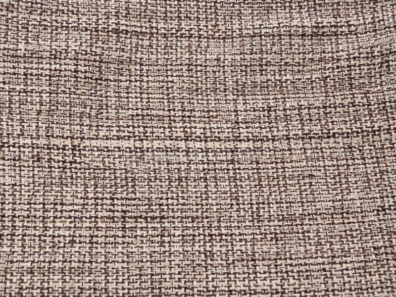 Szczegół grubiańska bawełniana tkanina w neutralnych kolorach zdjęcie stock