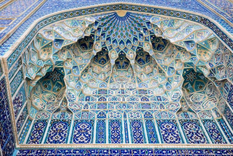 Szczegół Gur-E emira mauzoleum grobowiec Azjatycki pogromca fotografia stock