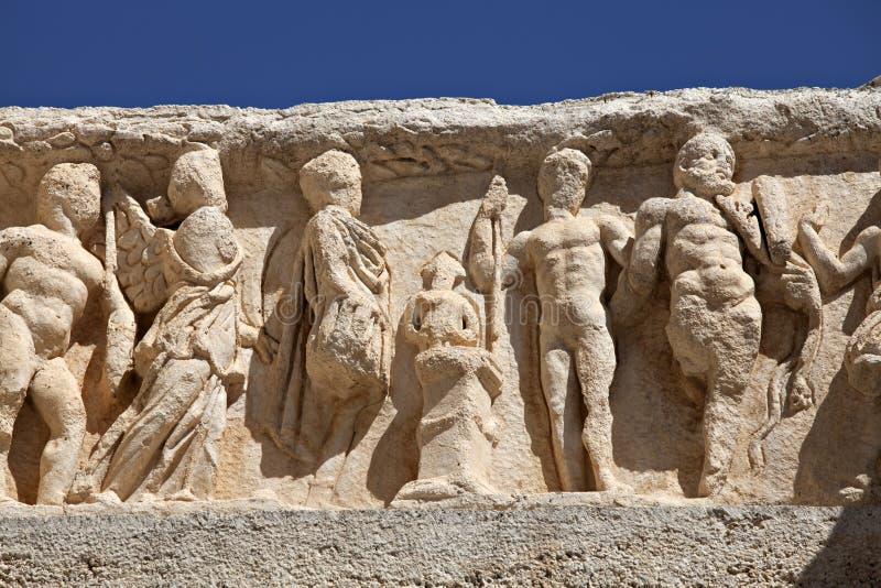 Szczegół Hadrian S Świątynia W Ephesus Zdjęcie Stock