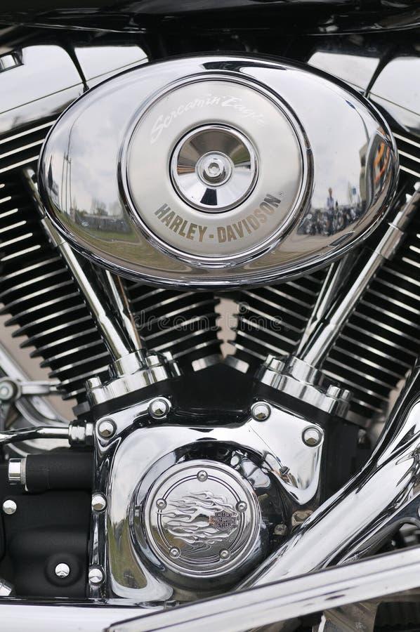 Szczegół Harley-Davidson motocykl zdjęcie stock